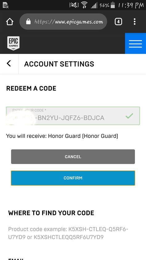 im selling  honor guard skin codes hmu   redeem