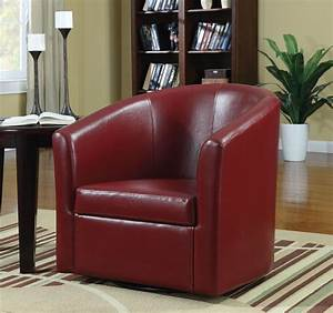 Red, Swivel, Chair, From, Coaster, 902099