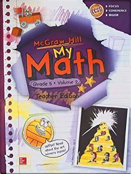 Amazoncom Mcgrawhill My Math, Grade 5 Volume 2, Teacher Edition, Ccss Common Core Books