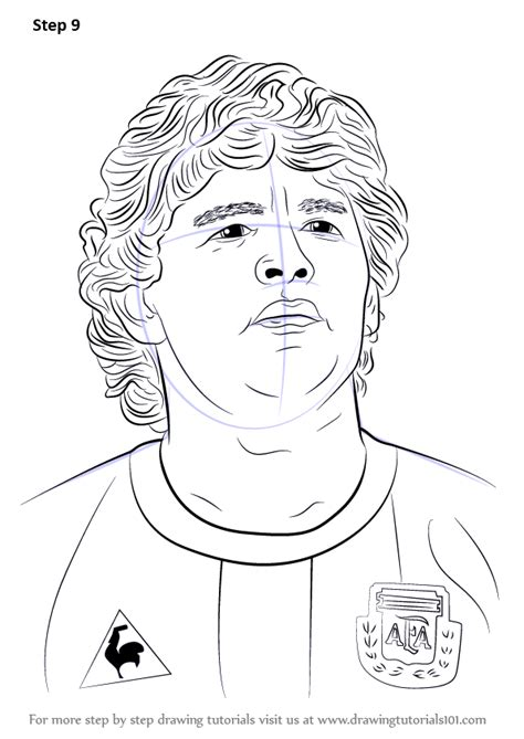learn   draw diego maradona footballers step