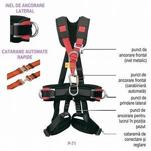 Safety Harness With 6 Anchoring Points - P-71 Type