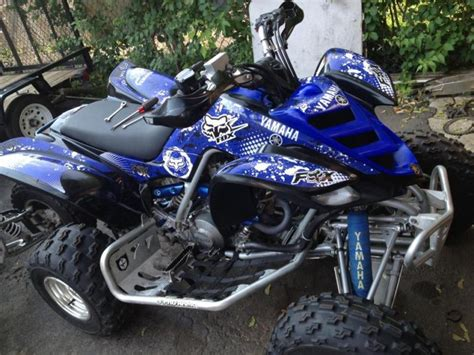 buy yamaha 660 raptor blue fox racing atv graphics kit wrap decals 660r motorcycle in king