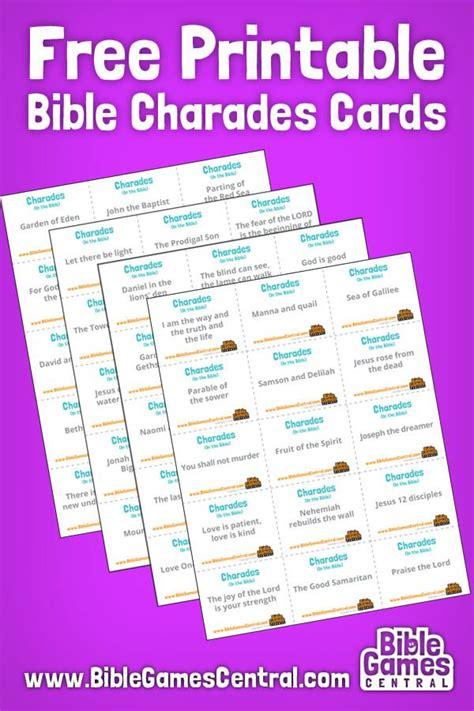 bible charades bible charades bible study lessons