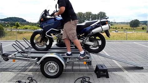 roller lackieren anleitung anleitung motorrad richtig auf motorradanh 228 nger verladen