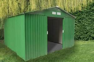Grand Abri De Jardin : grand abri de jardin m tal vert 12 78 m2 kit d 39 ancrage ~ Dailycaller-alerts.com Idées de Décoration