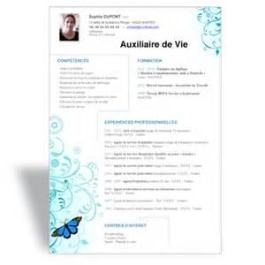 Auxilliaire De Vie by T 233 L 233 Charger Mod 232 Le Cv Word Emploi Auxiliaire De Vie Sociale