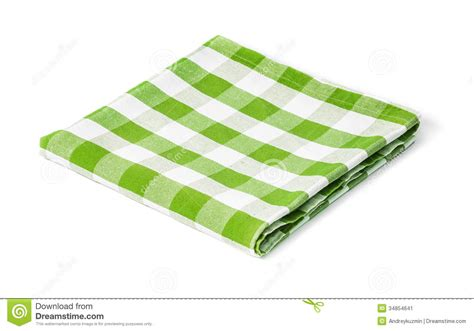 nappe de pique nique nappe verte de pique nique d isolement image stock image 34854641