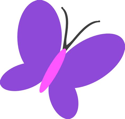 Purple Clipart Purple Butterfly Flip Clip At Clker Vector Clip