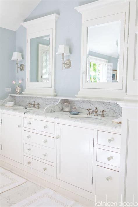vanity backsplash  shelf traditional bathroom