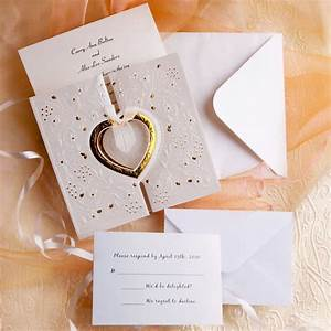 Unique and elegant hearts affordable wedding invitations for Creative inexpensive wedding invitations