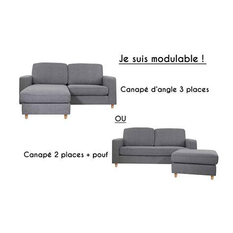 canapé 2 angles canapé d 39 angle réversible 2 places rabat gris souris