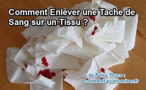 comment enlever une tache de sang sur un tissu