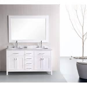 design element bathroom vanities design element dec076a 2 61 sink bathroom vanity set in pearl white finish