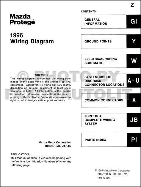 Mazda Protege Wiring Diagram Manual Original