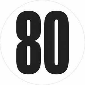 Vitesse A 80km H : 1 disque de limitation de vitesse 80 km h 20 cm autocollant ~ Medecine-chirurgie-esthetiques.com Avis de Voitures