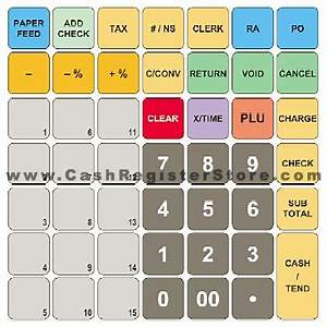 sam4s er 265 cash register With cash register keyboard template