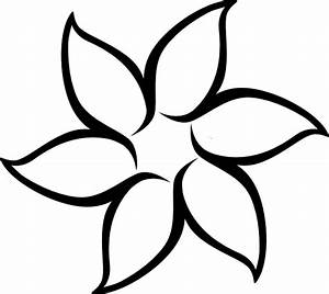 Flower Outline Clip Art at Clker.com - vector clip art ...