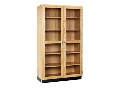 """Lab Storage Case with Glass Doors 48""""Wx22""""Dx84""""H, Lab Cabinets"""
