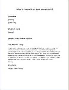 Personal Loan Request Letter Sample