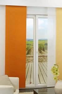 Schiebegardinen Als Raumteiler : orange schiebegardinen verwendbar auch als raumteiler ~ Sanjose-hotels-ca.com Haus und Dekorationen
