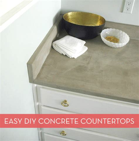 how to make your own diy concrete countertops the easy - Easy Diy Countertops