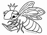 Bee Queen Coloring Pages Tuesday sketch template