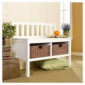 Simple, Small, Bench, With, Storage, U2013, Homesfeed
