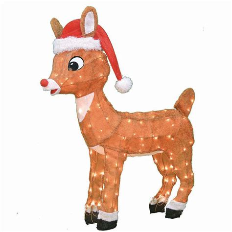 Rudolph Outdoor Decorations - rudolph 36 in 3d led rudolph 20341 thd the home depot