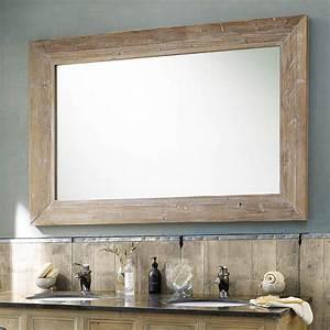 Miroir Cadre Bois : grand miroir en bois naturel miroir d coration ~ Teatrodelosmanantiales.com Idées de Décoration