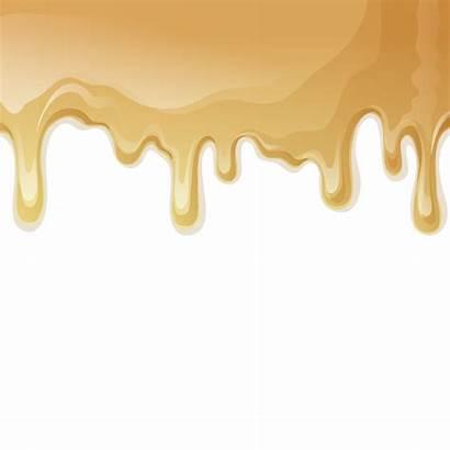 Vector Background Cream Caramel Drips Melted Illustration