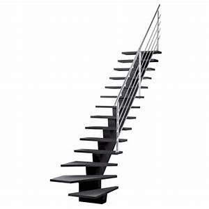 Escalier Quart Tournant Gauche : escalier gomera quart tournant en bois 14 marches ~ Dailycaller-alerts.com Idées de Décoration