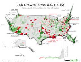 2016 Us Job Growth Map