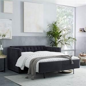 tufted sleeper sofa gray sleeper sofa with novogratz With let out sofa bed