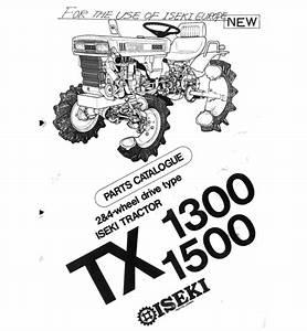 Iseki Tx1300 Tx1500 Parts Manual Catalog