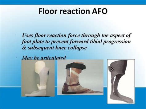 Floor Reaction Afo Cascade by Cerebral Palsy