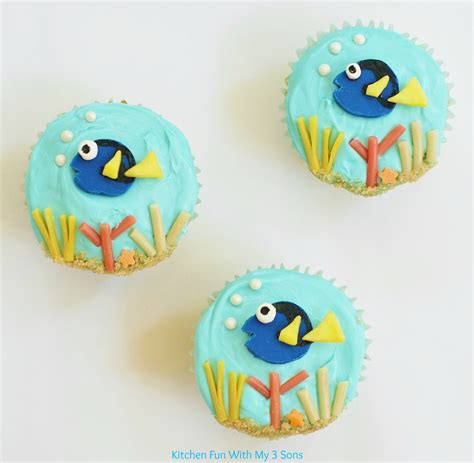 easy finding dory cupcakes kitchen fun    sons
