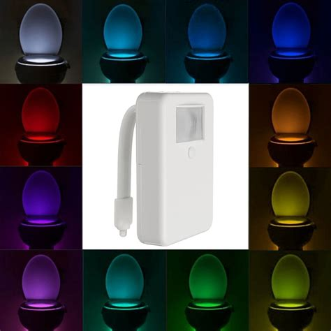 motion activated night light 16 color motion activated led toilet sensor night light