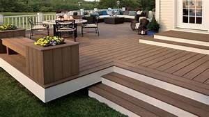 Terrasse En Composite : marches terrasse en bois ou pierre maison trop haute ~ Melissatoandfro.com Idées de Décoration