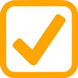 orange checked checkbox icon free orange check mark icons