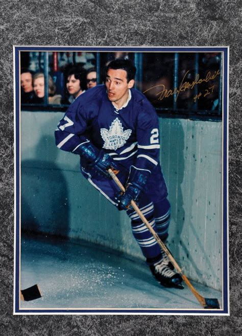 lot detail frank mahovlich signed toronto maple leafs