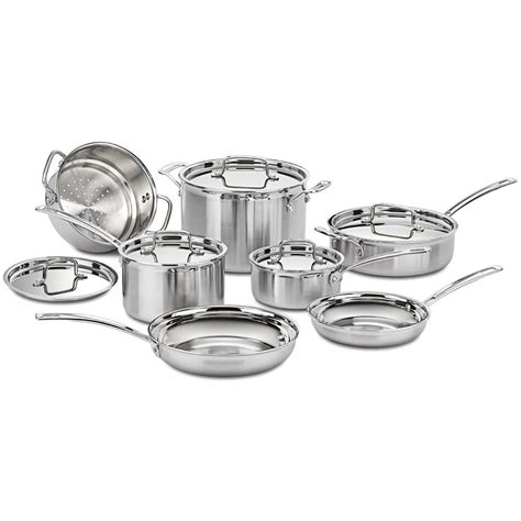 cuisinart multiclad pro tri ply  pc stainless cookware