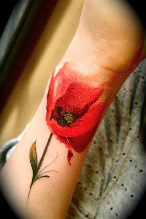stunning watercolor poppy tattoo ideas flowertattooideas