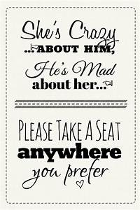 pick a seat wedding sign free printable With downloadable wedding signs