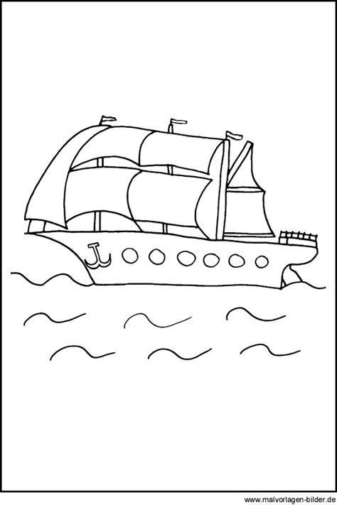 malvorlage segelboot ausmalbilder fuer kinder