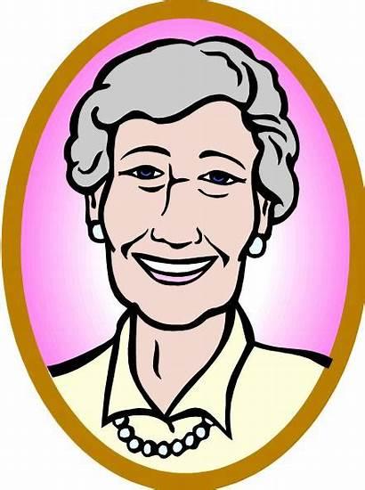 Clipart Grandma Granny Clip Cliparts Cartoon Glasses