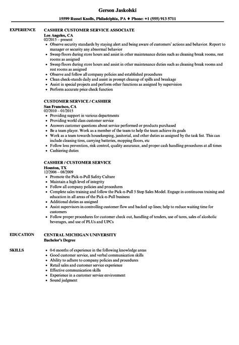 Cashier Customer Service Resume | louiesportsmouth.com
