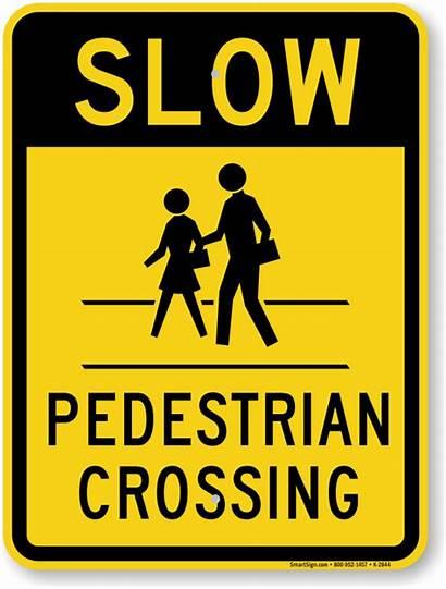 Pedestrian Crossing Sign Slow Signs Zebra Down