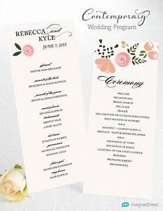wedding program wording magnetstreet weddings With samples of wedding invitations and programs