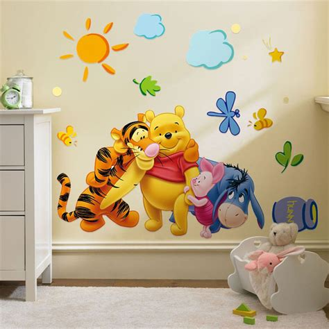stickers chambre bébé disney winnie the pooh wall stickers