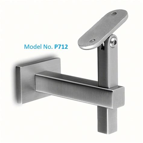 square metal tubing modern stair rail mounting hardware handrail brackets for
